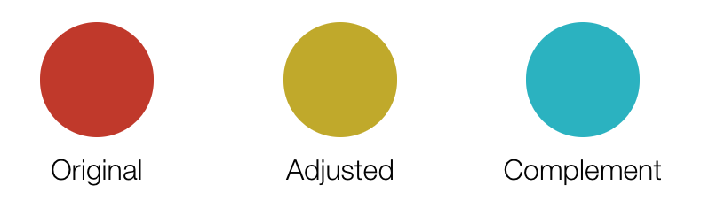 ajusted-hue and complement color