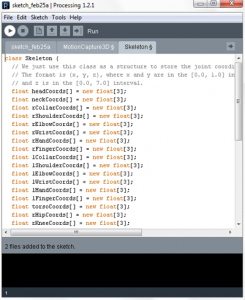 A Processing sample code