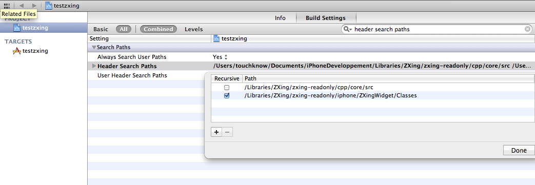 How to install ZXing in Xcode 4 - 逝者如斯夫- BlogJava
