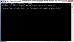 Windows command prompt with the command line